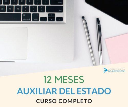 CURSO AUXILIAR ADMINISTRATIVO DEL ESTADO - 12 MESES