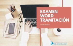 FECHA EXAMEN WORD TRAMITACIÓN 2020