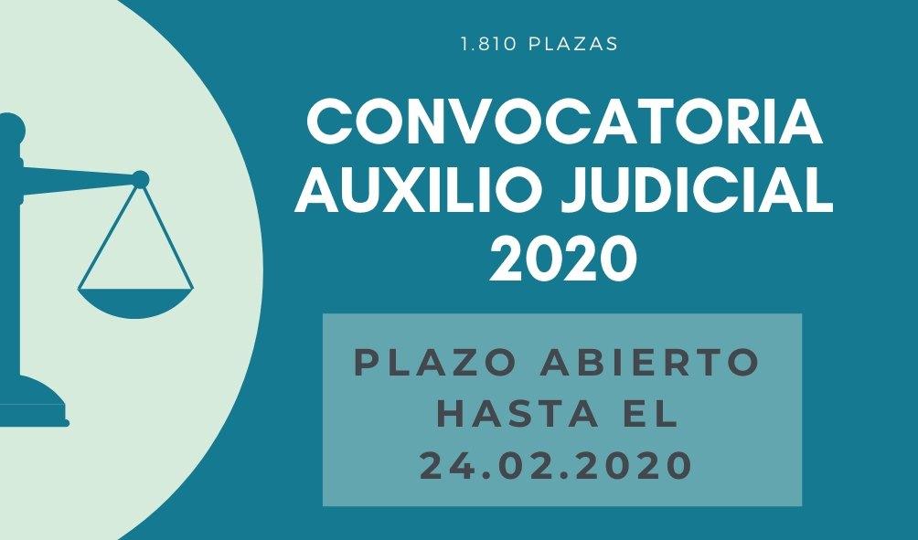 CONVOCATORIA AUXILIO JUDICIAL 2020 - INSTANCIAS