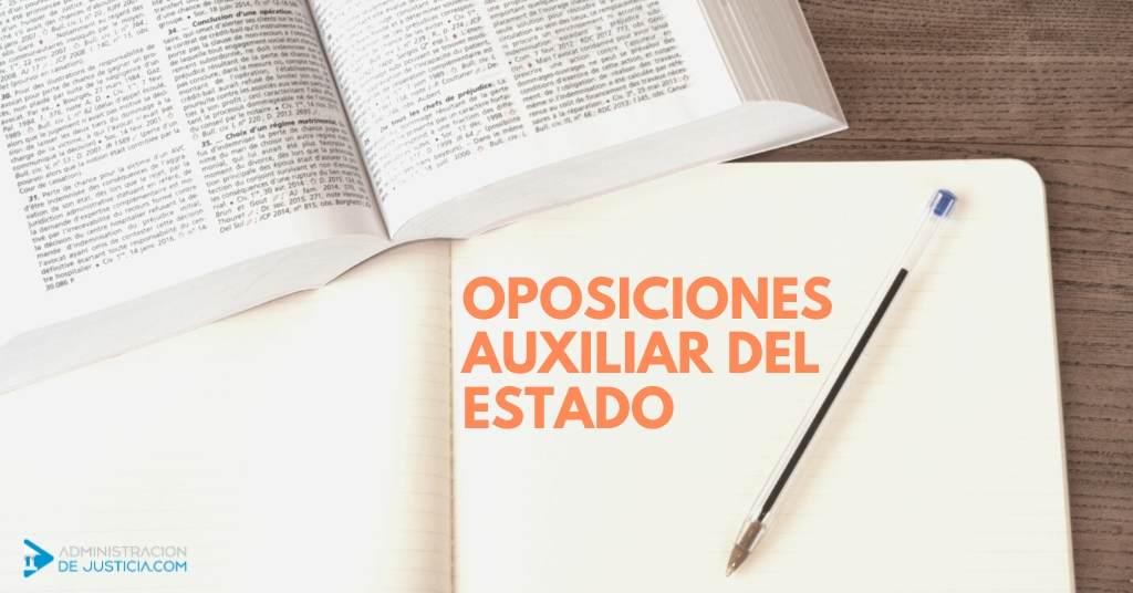 OPOSICIONES AUXILIAR DEL ESTADO