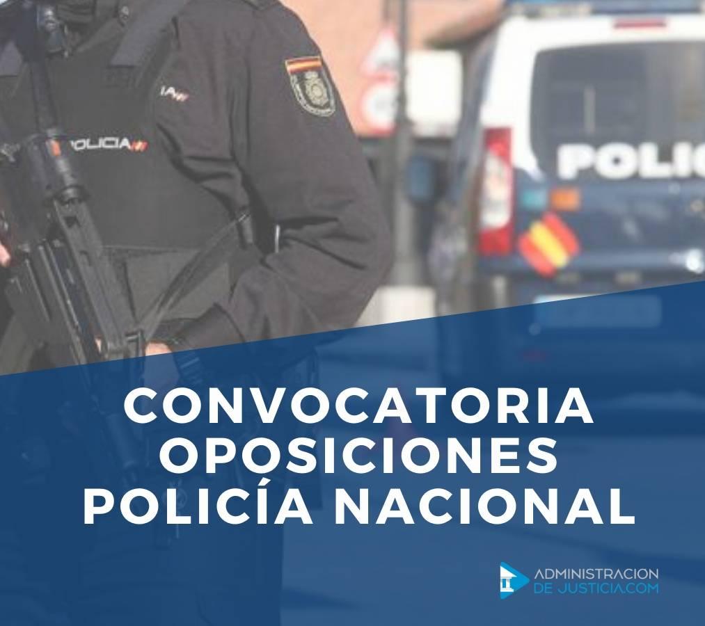 CONVOCATORIA OPOSICIONES POLICIA NACIONAL