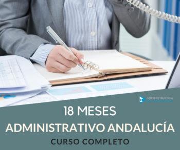 CURSO 18 MESES ADMINISTRATIVO JUNTA ANDALUCÍA
