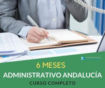 CURSO 6 MESES ADMINISTRATIVO JUNTA ANDALUCÍA