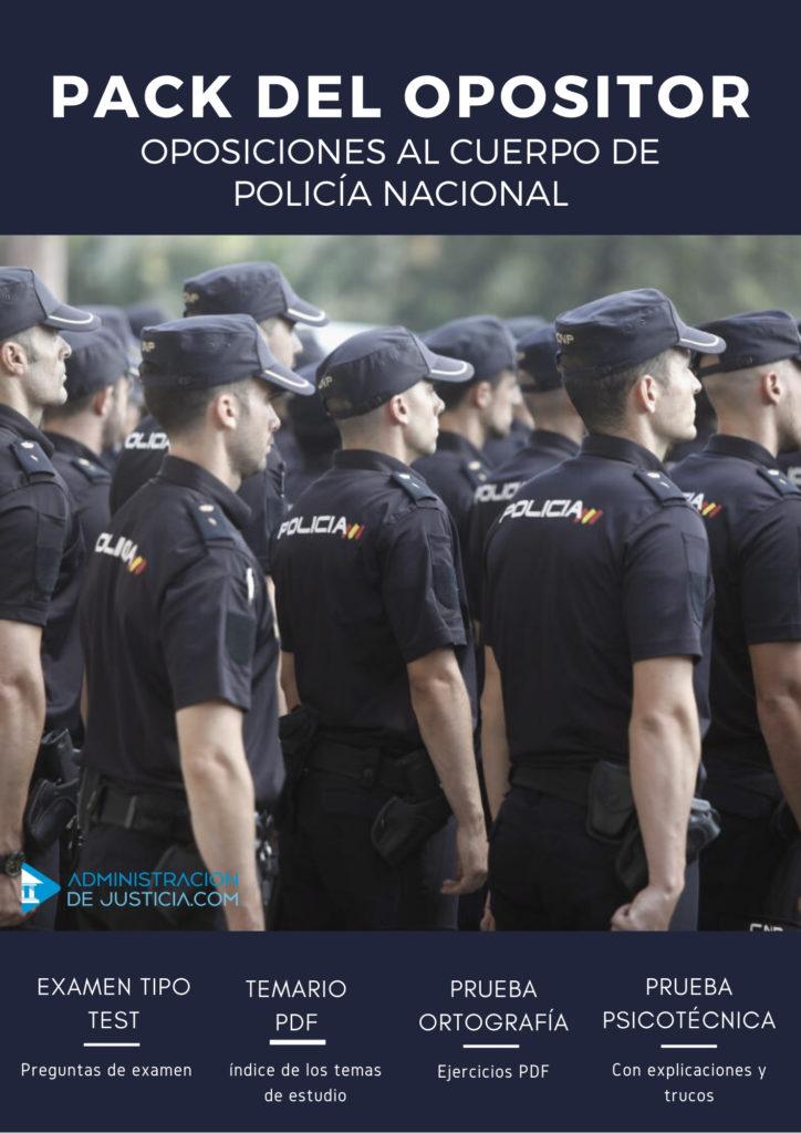 PACK DEL OPOSITOR POLICÍA NACIONAL