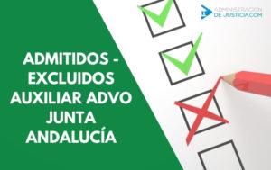 Lista provisional admitidos y excluidos auxiliar administrativo Junta de Andalucía