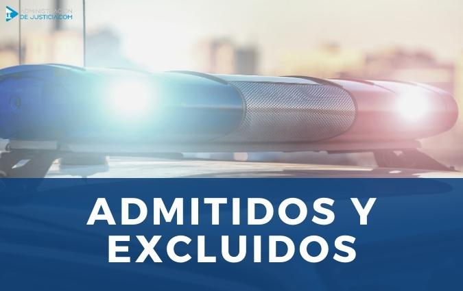 Relación provisional admitidos y excluidos Policía Nacional 2020