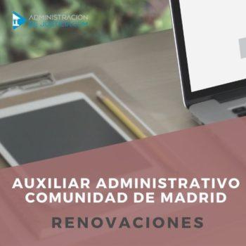 AUXILIAR ADMINISTRATIVO COMUNIDAD DE MADRID