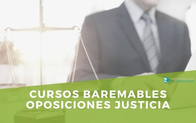 CURSOS BAREMABLES OPOSICIONES JUSTICIA