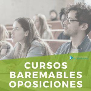 CURSOS BAREMABLES PARA OPOSICIONES.